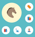 flat icons sausage metropolis snack and other vector image vector image