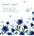 Floral background with space for text watercolor vector image vector image