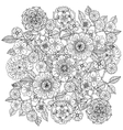 Floral ornament Art of mandala style Zentangle vector image vector image
