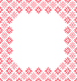 Frame pink patterns on canvas vector image