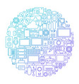 gadget line icon circle design vector image vector image