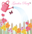 garden party shower vector image vector image