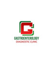 gastroenterology clinic label vector image