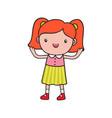 girl doodle vector image