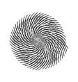 grunge swirl stamp vector image vector image