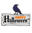 happy halloween design elements vector image vector image