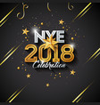 happy new year with typography letter vector image