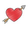 heart with arrow icon vector image vector image