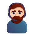 hipster call center worker icon cartoon style vector image vector image