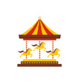 horse carousel icon flat style vector image vector image
