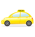 isolated retro taxi car vector image vector image