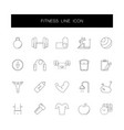 line icons set fitness pack vector image vector image
