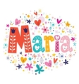 Maria female name decorative lettering type design vector image vector image