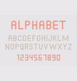 minimal font and alphabet vector image vector image
