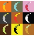moons vector image