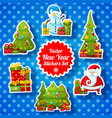 new year stickers collection vector image