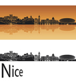Nice skyline in orange background vector image vector image
