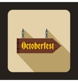 Oktoberfest signboard icon flat style vector image vector image