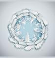 paper art cristmas circle vector image vector image