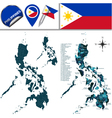 Philippines map with named divisions vector image vector image