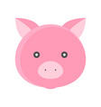 pig face isolated on white background flat style vector image vector image