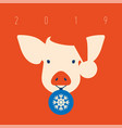 Pig icon piggy a symbol of the 2019 chinese new