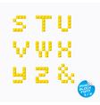 Pixel Block Alphabet vector image