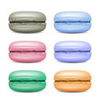 realistic macarons set detailed colourful vector image vector image