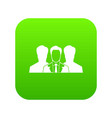 recruitment icon digital green vector image vector image