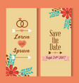 save the date for personal wedding invitation vector image