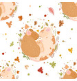seamless pattern a cute family rats dad mom vector image vector image