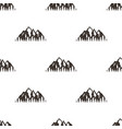 seamless pattern with mountains in retro hipster vector image vector image