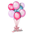 set colorful balloons isolated on white vector image vector image