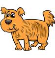 shaggy dog cartoon vector image vector image
