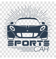 silhouette racing sports cars vector image vector image