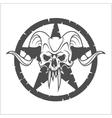 Skull in Star vector image vector image