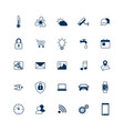 smart house icons set internet things concept vector image vector image
