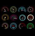 speedometers speed indicators dashboard vector image vector image