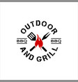 stamp for grill party vector image vector image
