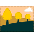 Stitched landscape with trees and cloud vector image vector image