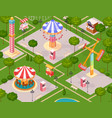 summer amusement park for children vector image vector image