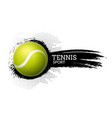 tennis ball background sport vector image vector image