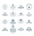 travel baggage logo icons set simple style vector image