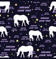unicorns seamless pattern with stars dreams come vector image vector image