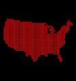 usa outline dot map vector image vector image