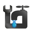 water tap and spanner vector image vector image