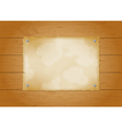 Wood plank background with old paper vector | Price: 1 Credit (USD $1)
