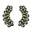 Wreath leaves ornament vector image vector image