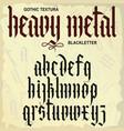 gothic alphabet lowercase calligraphic letters vector image