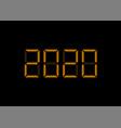 2020 digital numbers vector image